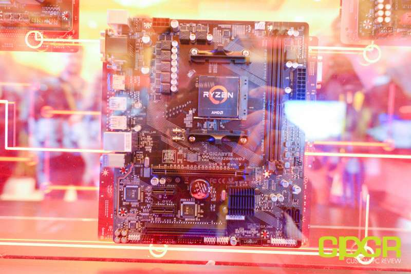 amd ryzen ces 2017 press event motherboards custom pc review 8