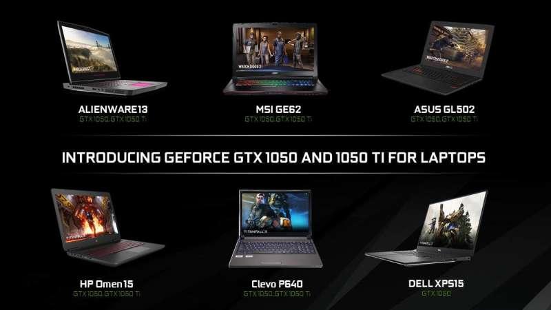 nvidia gtx 1050 laptops
