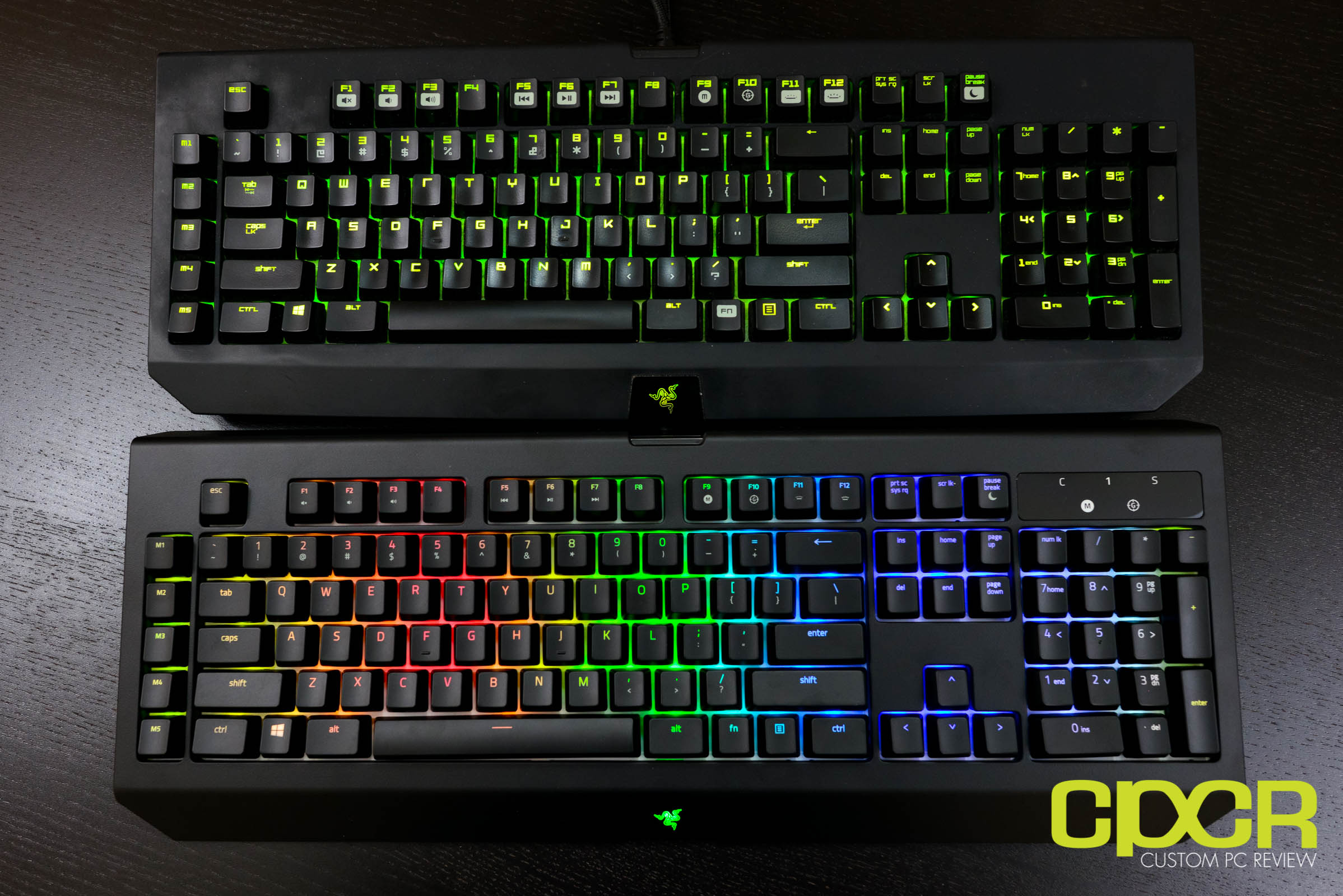 2fd4b22da90 Here's a quick comparison of the new Razer BlackWidow Chroma V2 compared to  its predecessor. The biggest thing you'll notice is the material used on  the ...