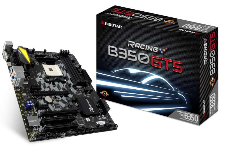 biostar b350gt5 motherboard image