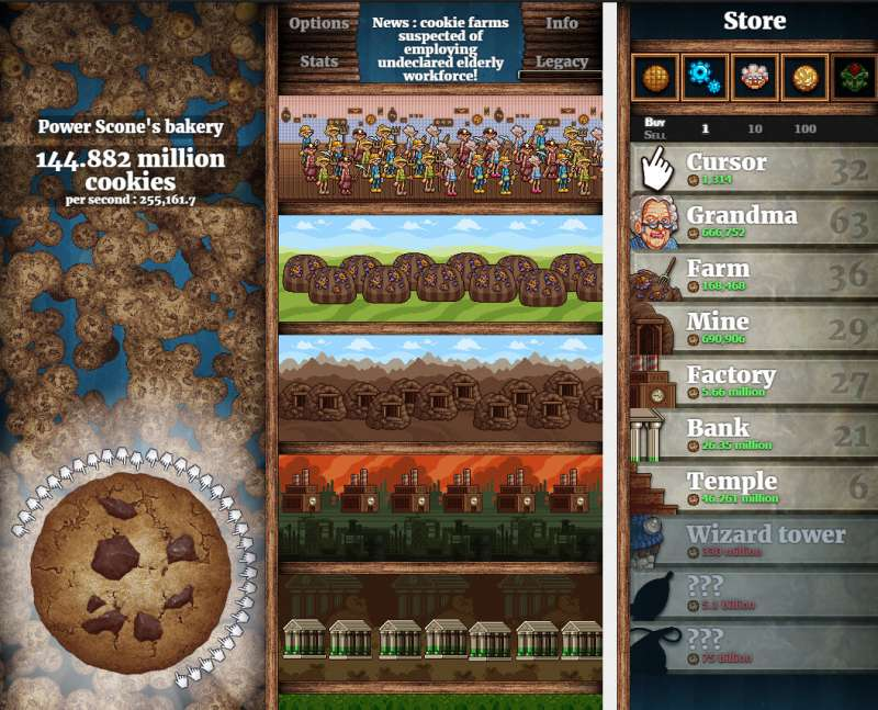 cookie clicker feature