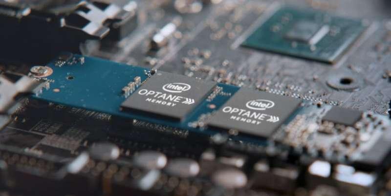 intel optane memory screen