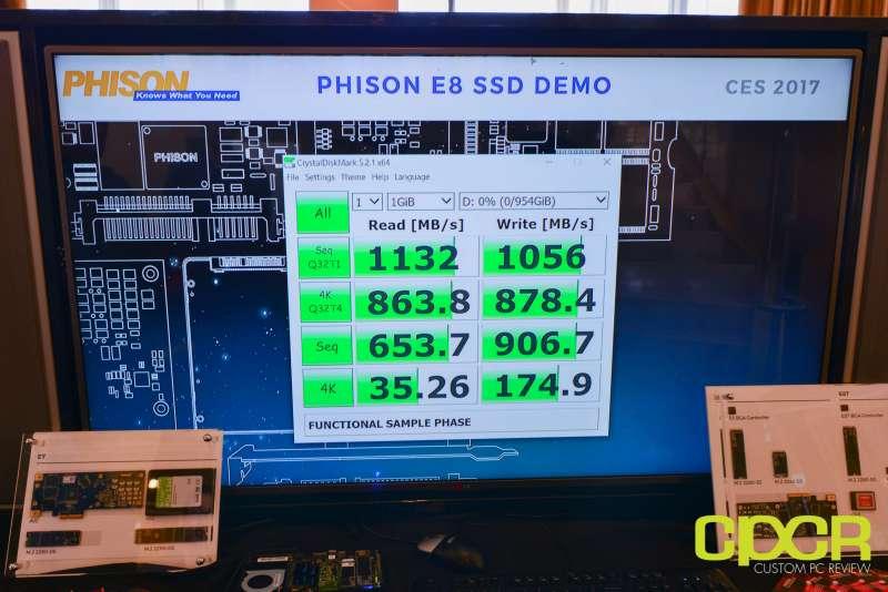 phison e8 ssd controller ces 2017 custom pc review 2