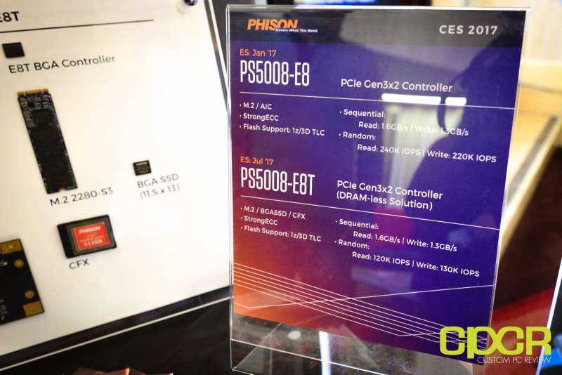 phison e8 ssd controller ces 2017 custom pc review 3