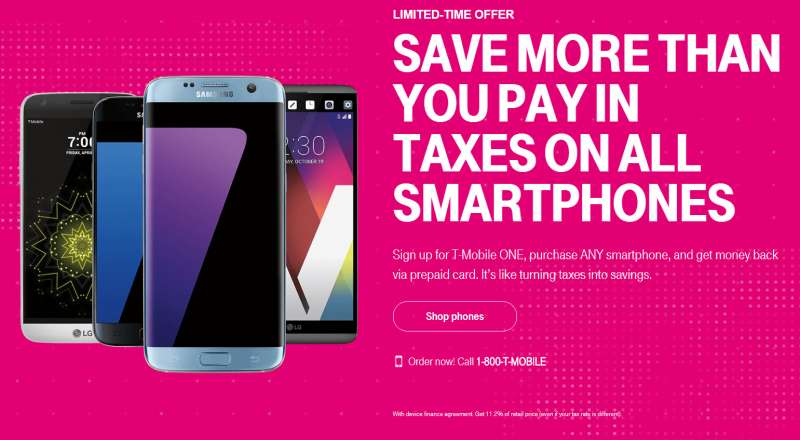 tmobile save taxes smartphone promotion 2017