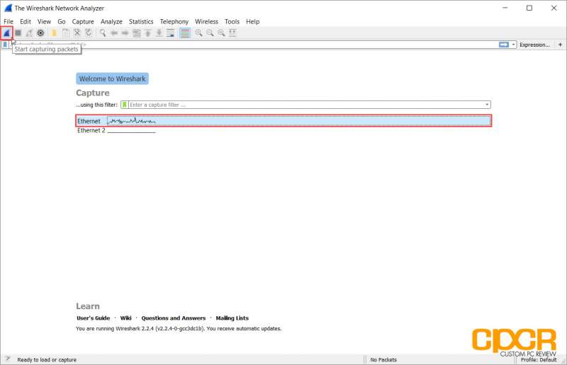 tutorial wireshark packet sniffer custom pc review 07