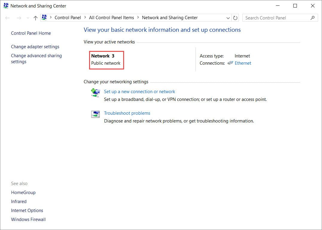 how to change network settings windows 10