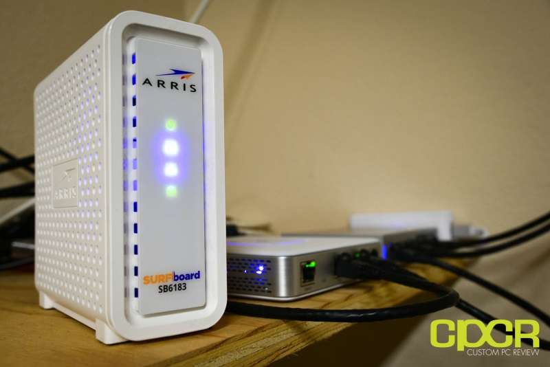 arris surfboard sb6183 cable modem custom pc review 2