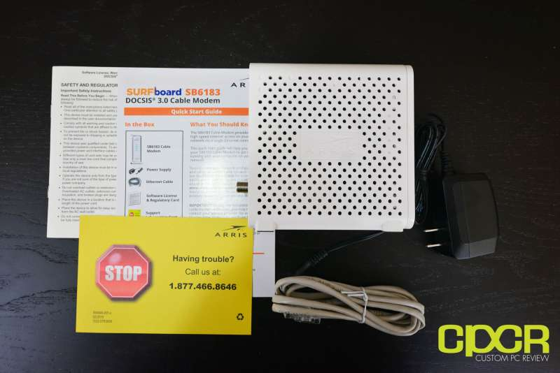 arris surfboard sb6183 cable modem custom pc review 5
