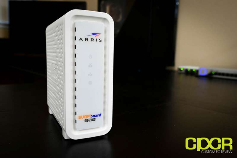 arris surfboard sb6183 cable modem custom pc review 6