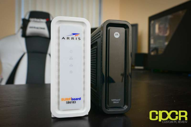 arris surfboard sb6183 cable modem custom pc review 8