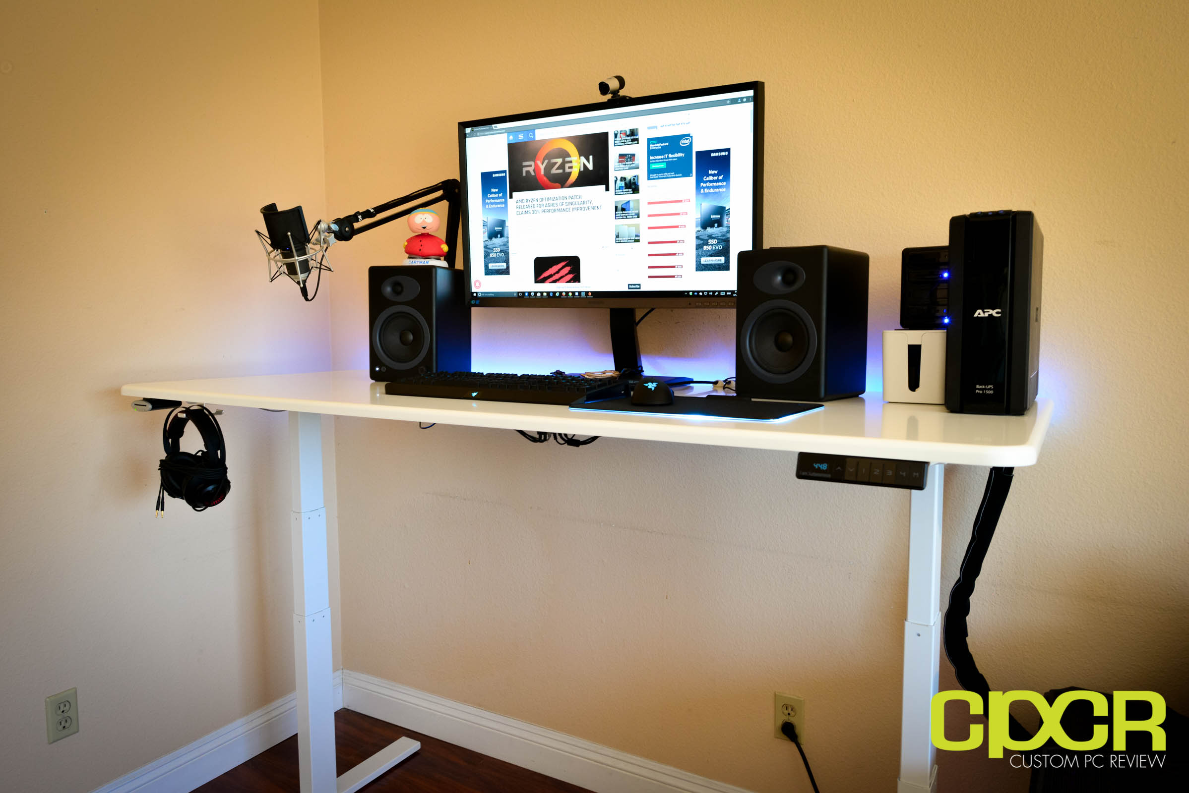 home office cable management. Here\u0027s A Look At The Autonomous SmartDesk 2 Fully Set Up In Typical Home Or Office. I\u0027ve Added Couple Things Such As LED Strip To Rear Of Office Cable Management I