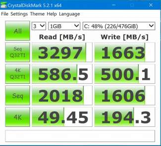 crystal disk mark ssd dell xps 15 custom pc review