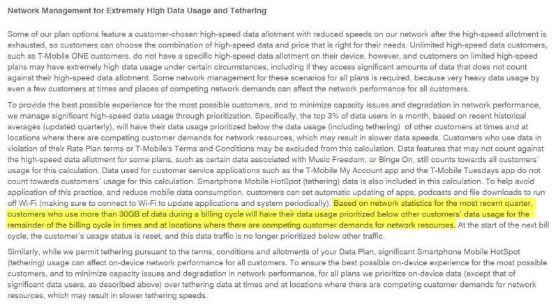 tmobile increases data deprioritization threshold march 2017