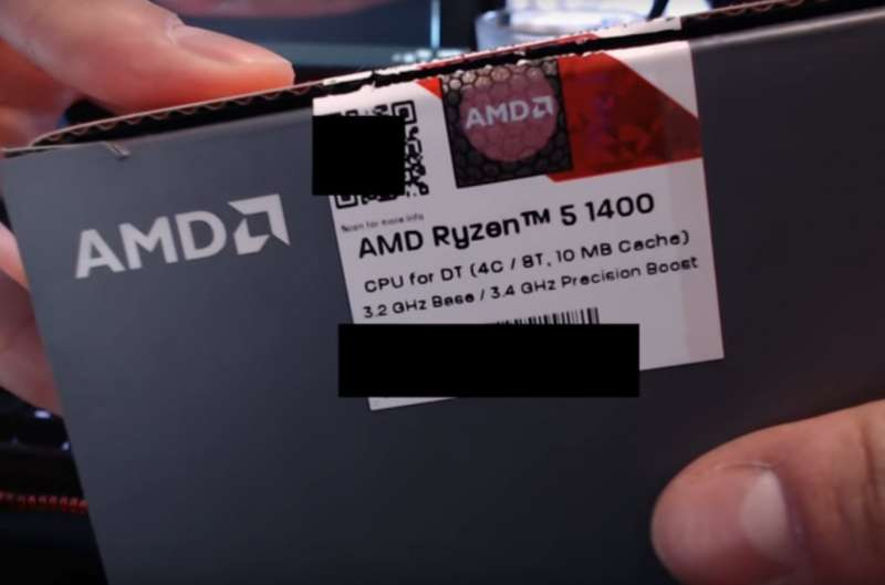 amd ryzen 5 1400 leaked youtube