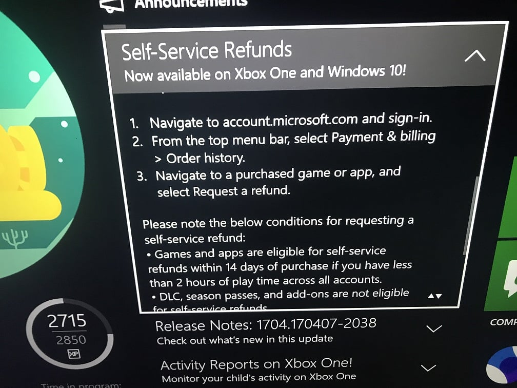 How to Refund a Game on Xbox One