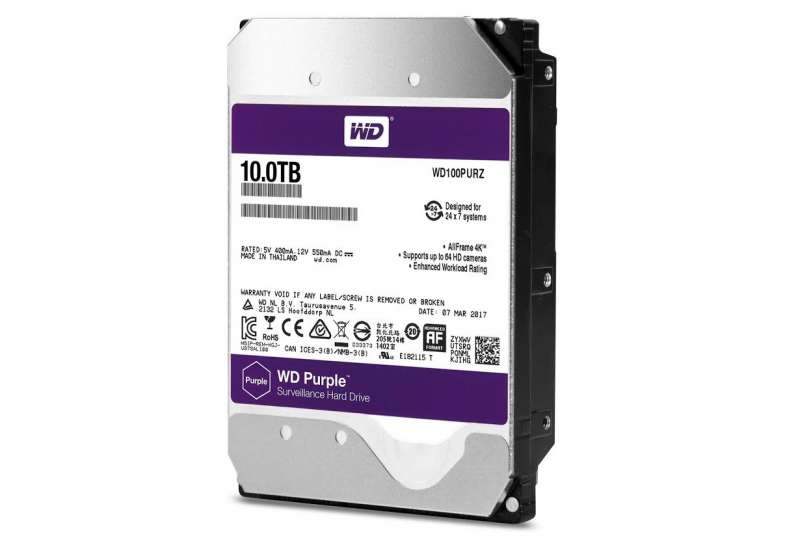 western digital purple 10tb surveillance hdd