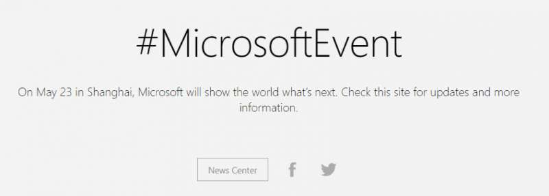 microsoft event may 23