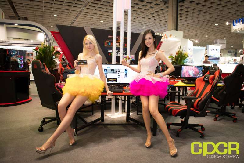 computex booth babes 2017 custom pc review 9627