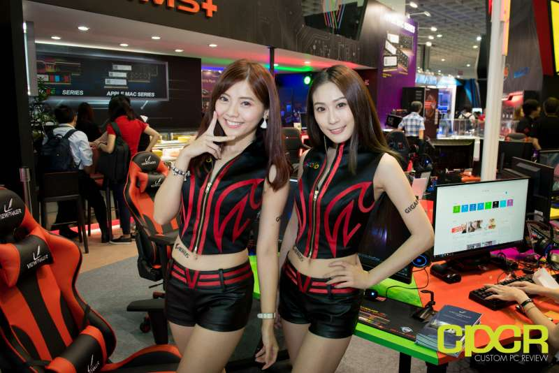 computex booth babes 2017 custom pc review 9663