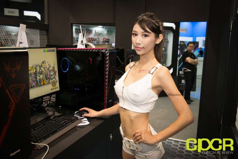 computex booth babes 2017 custom pc review 9700
