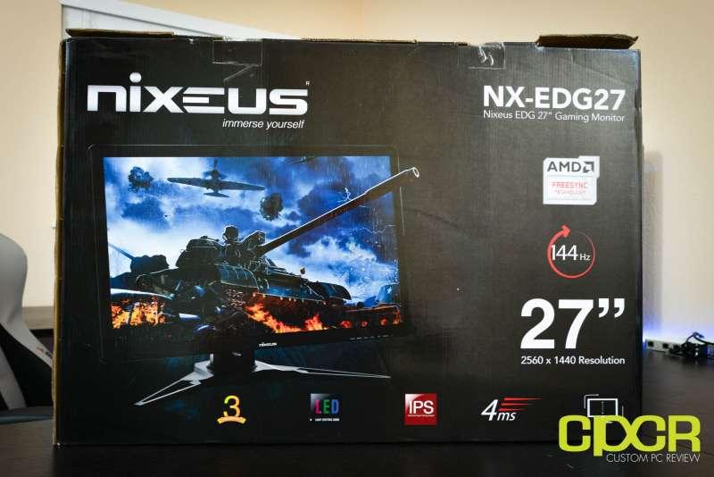 nixeus nx edg27 144hz 1440p ips gaming monitor custom pc review 2860