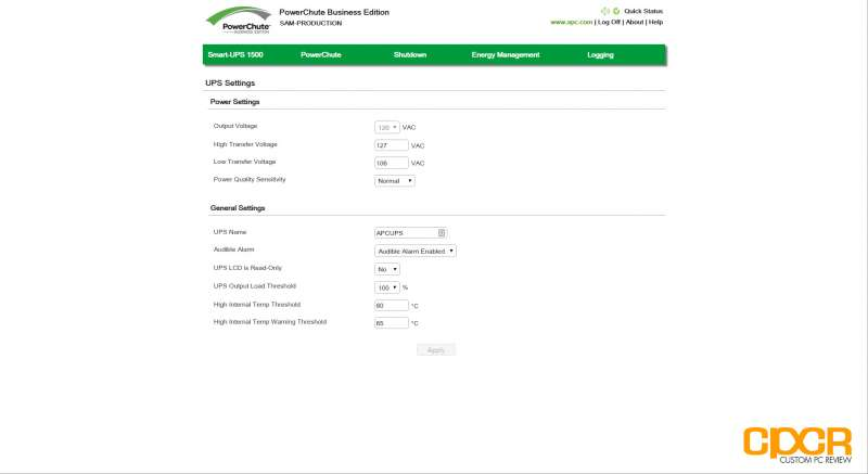 powerchute business edition apc smartups 1500 smt1500 custom pc review 15