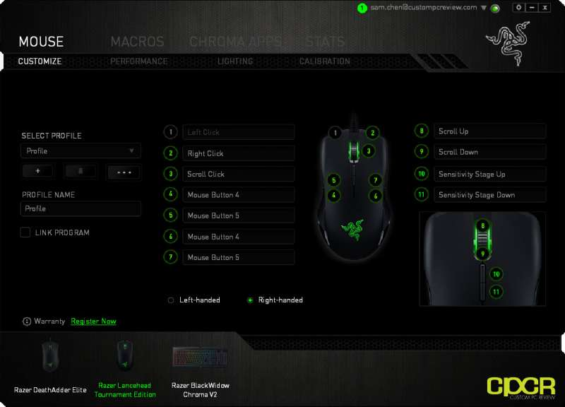 razer synapse software razer lancehead te custom pc review 04