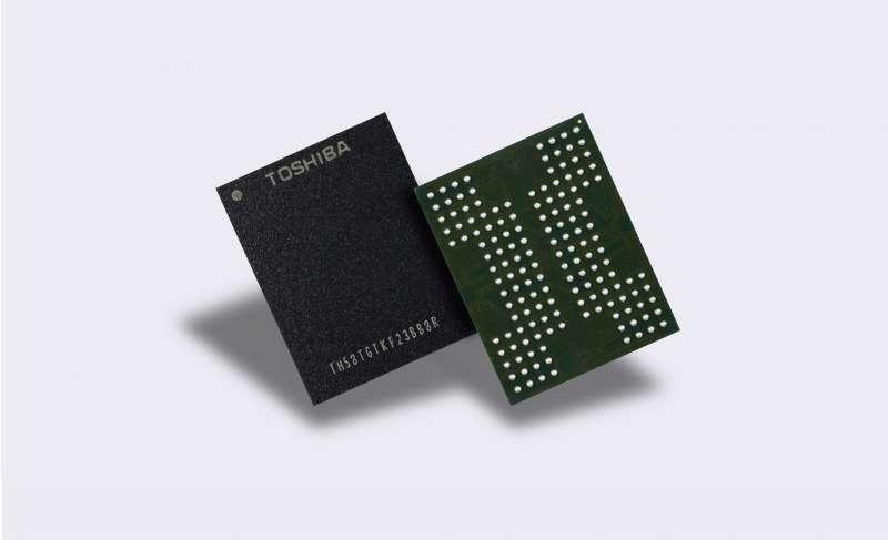 toshiba 96bit qlc bics 3d nand press image
