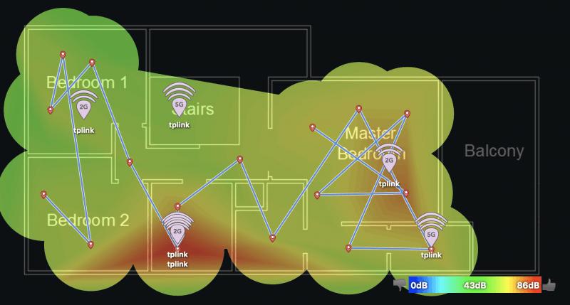 tplink deco m5 2f signal to noise ratio