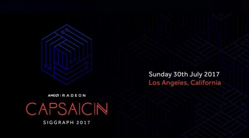 amd capsaicin event siggraph 2017 banner