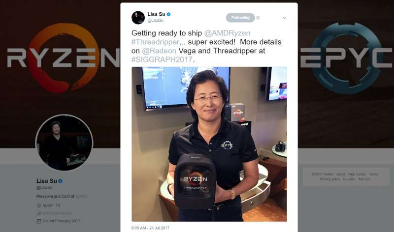 amd ryzen threadripper packaging drlisasu twitter 1