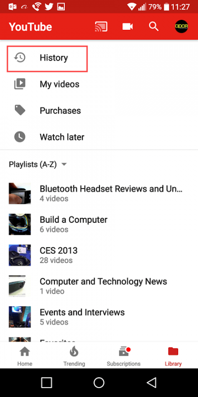 clear youtube watch history android custom pc review 7