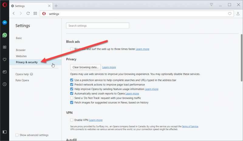How to Use Opera VPN 4