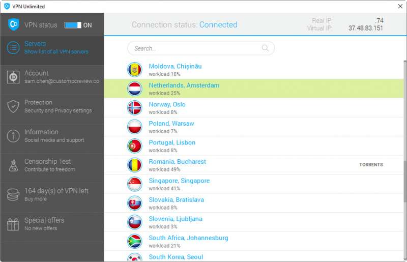 keepsolid vpn unlimited client custom pc review screen 1