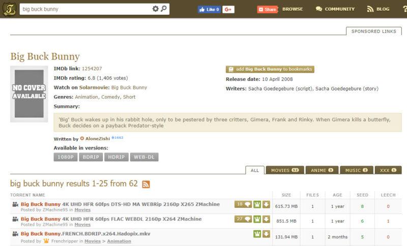 kickasstorrents best torrent site screenshot 1