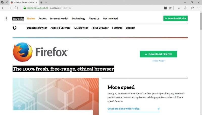 mozilla firefox website screenshot 1