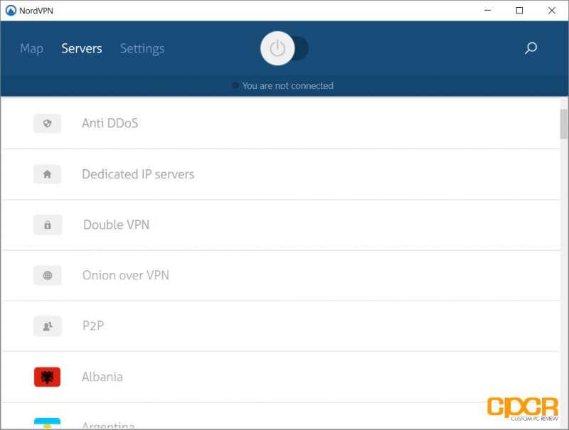 nordvpn application custom pc review screenshot 01