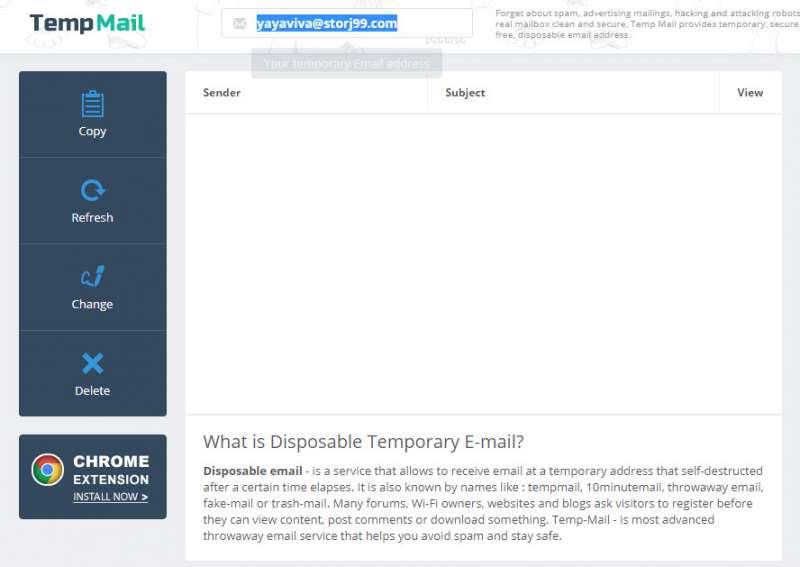 temp email main