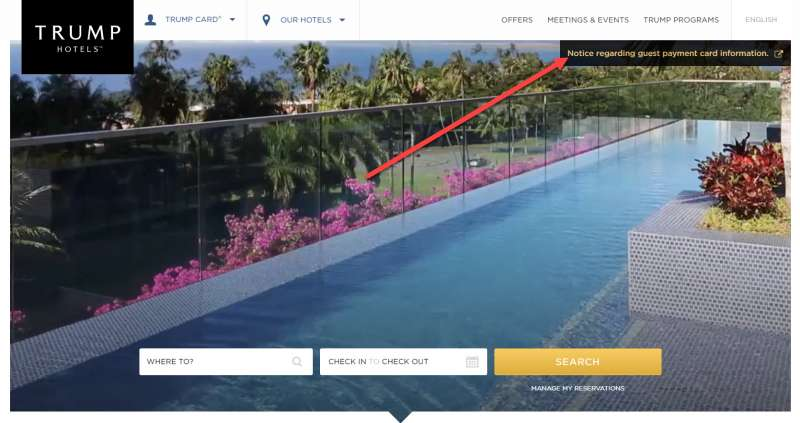 trump hotels sabre hacked credit card information screen 1