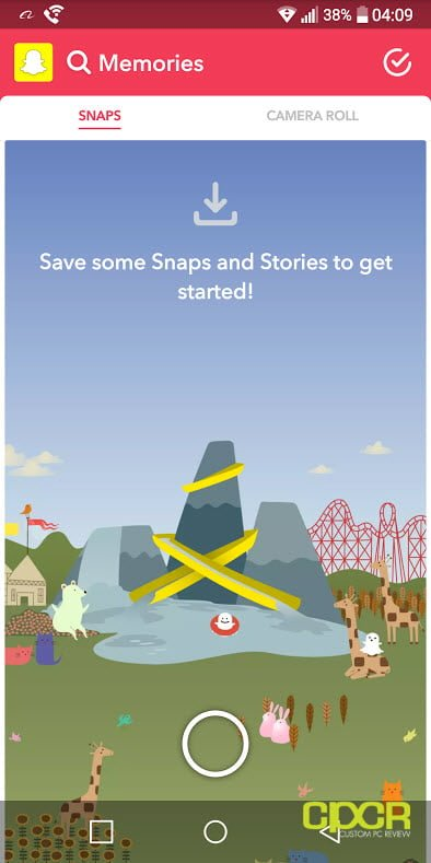 upload images gallery snapchat custom pc review screen 01