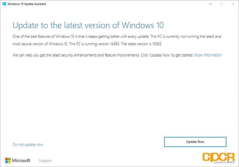 windows ten creators update custom pc review screenshot 01