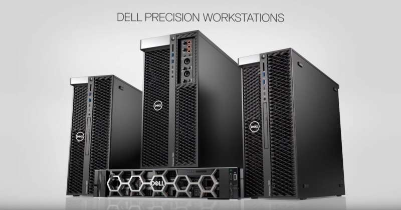 dell precision workstation lineup screen