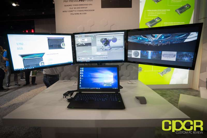 pny prevail pro mobile workstation siggraph 2017 custom pc review 01838