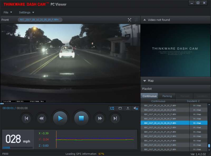 thinkware dashcam viewer software thinkware f800 custom pc review