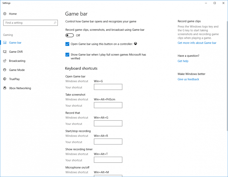 Windows10GameBar Custompcreview