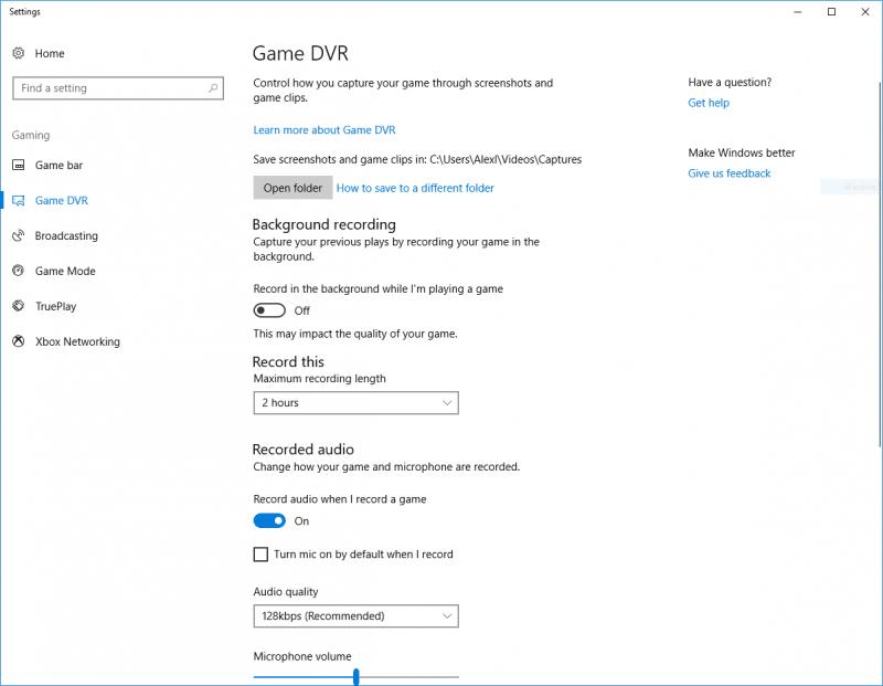 Windows10GameDVR Custompcreview