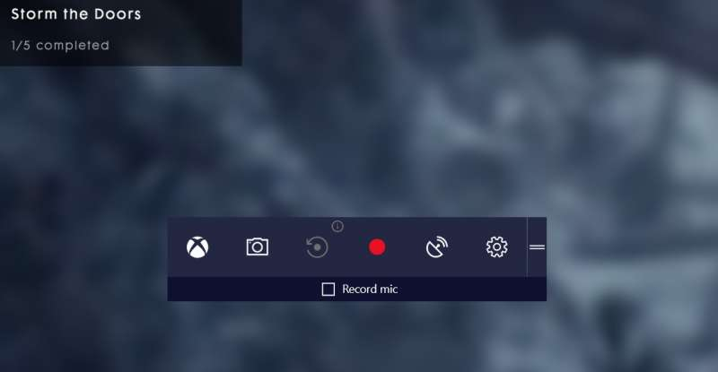 windows game mode bar screen 1